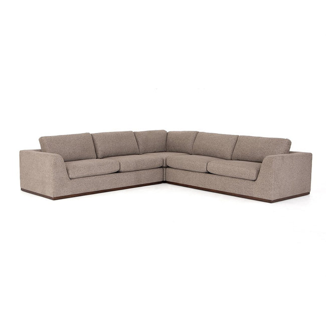 Colt Fabric Sectional Sofa - Gaston Pewter
