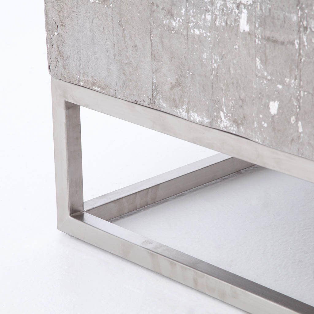 Concrete & Chrome Coffee Table VCNS-F011