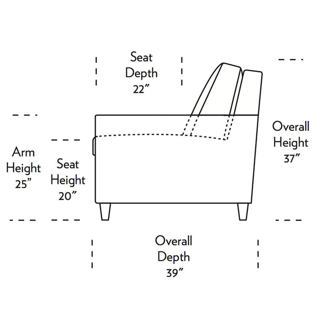 Conley Comfortable Sleeper Sofa Side Dimensions