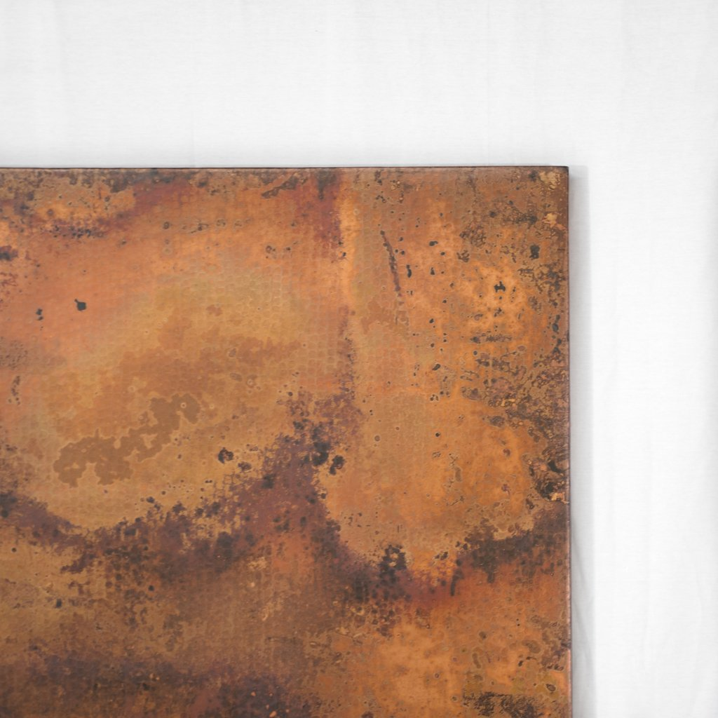 Rectangular Copper Tabletop Hammered Texture
