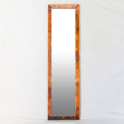 Hammered Copper Floor Mirror