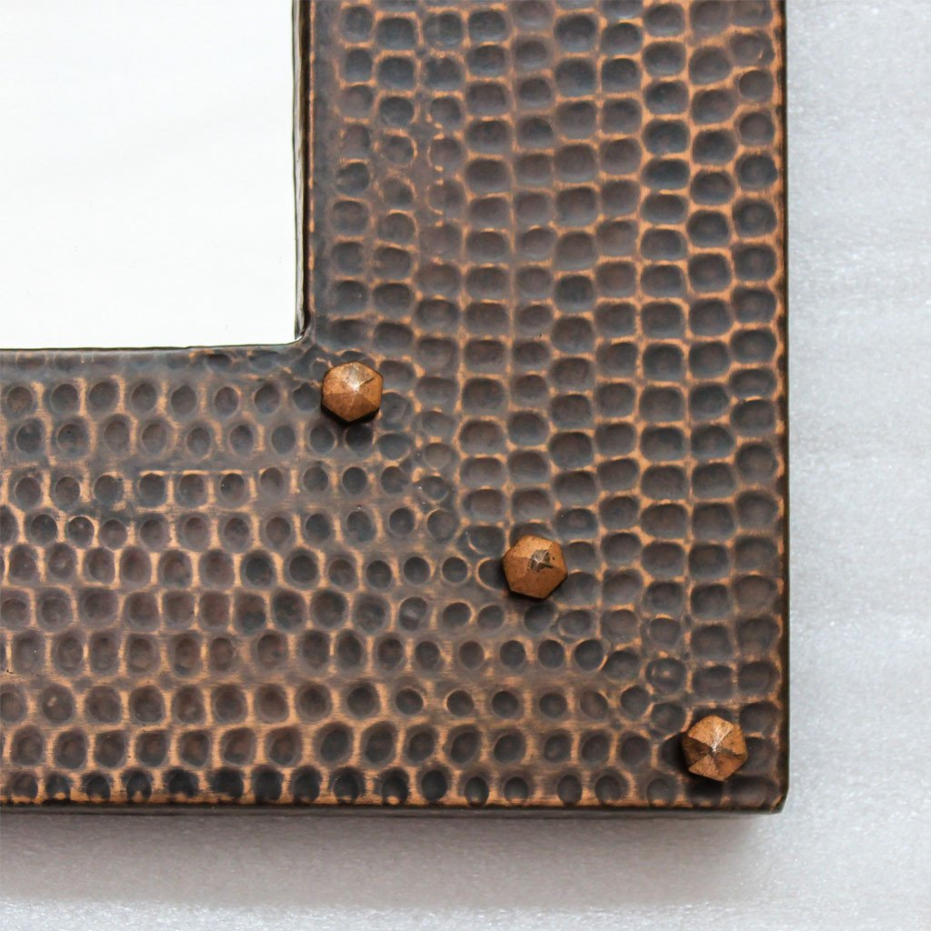 Hammered Copper Mirrors vanity