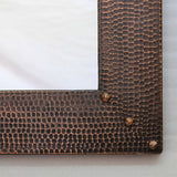 Hammered Copper Entryway Mirror - Dark