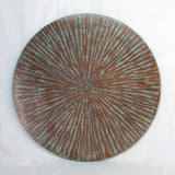 Weathered Penny Round Hammered Copper Tabletop