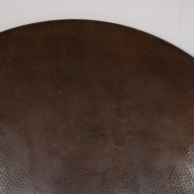 hammered texture copper table dark brown
