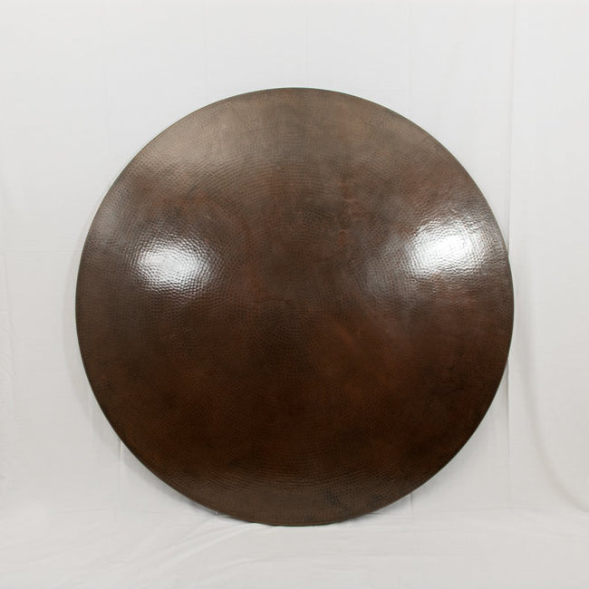 hammered copper tabletop dark brown finish