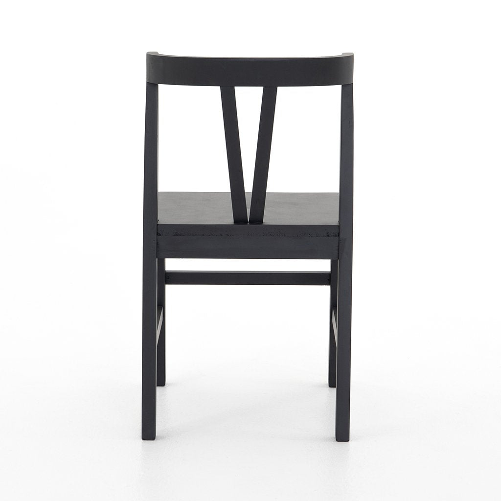 Back View Daisy Black Dining Chair