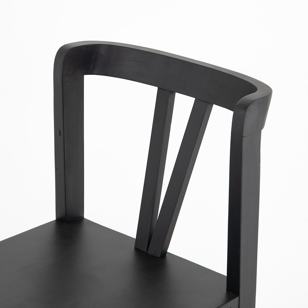 Backrest View Daisy Black Dining Chair