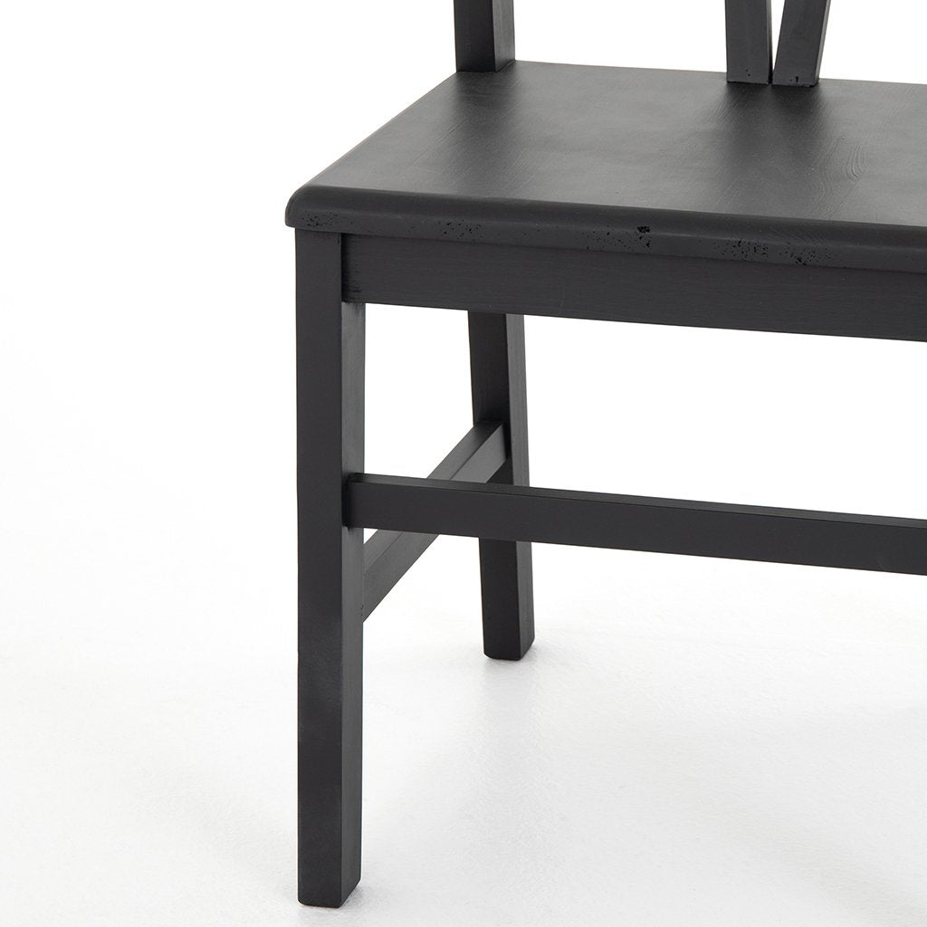 Seat Detail Daisy Black Dining Chair