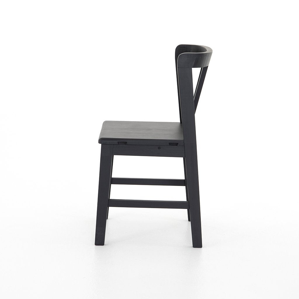 Side View Daisy Black Dining Chair
