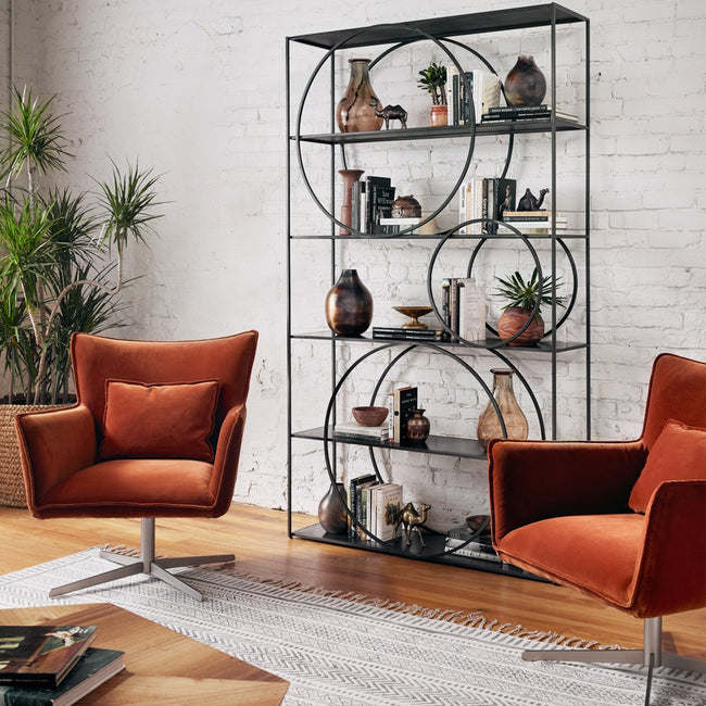 Danielle Metal Bookshelf IRCK-209 Four Hands Furniture