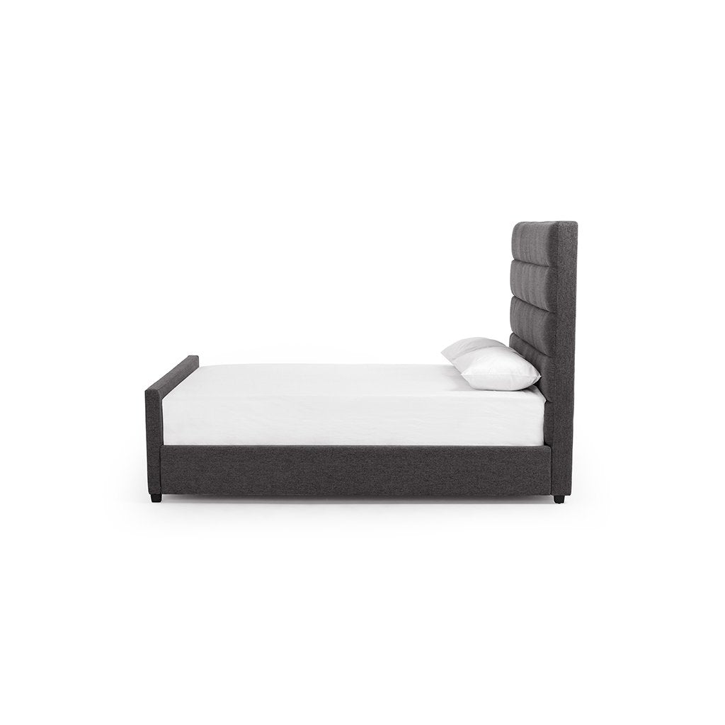 Daphne Grey Fabric Bed - San Remo Ash CKEN-170YQ-999 Side view