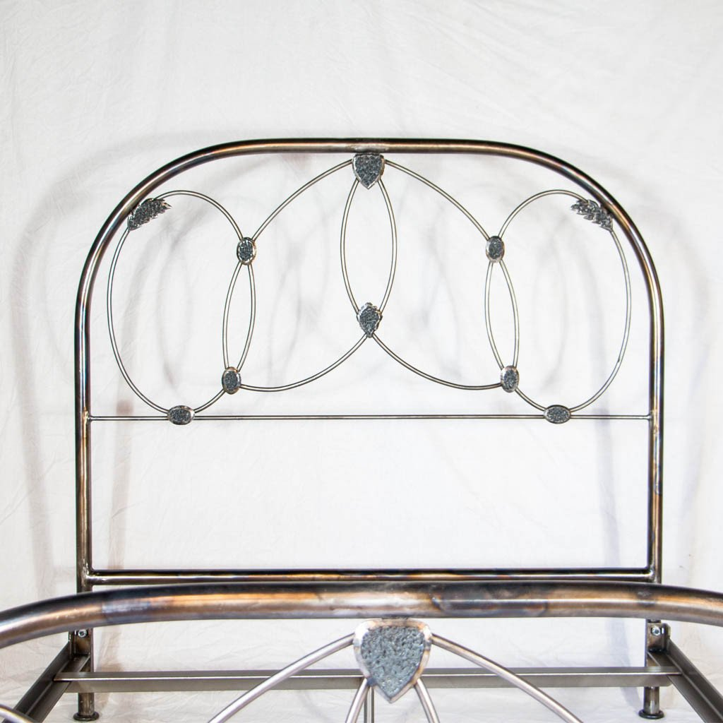 feminine iron bed frame