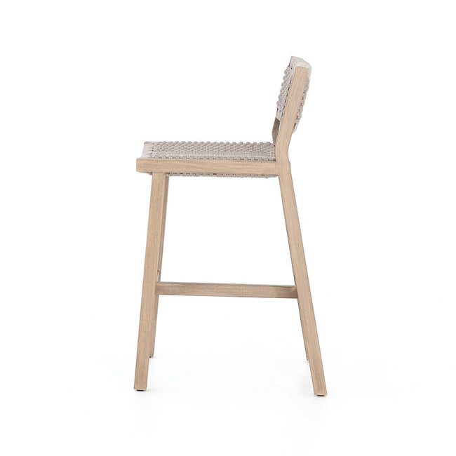 outdoor barstool in teak