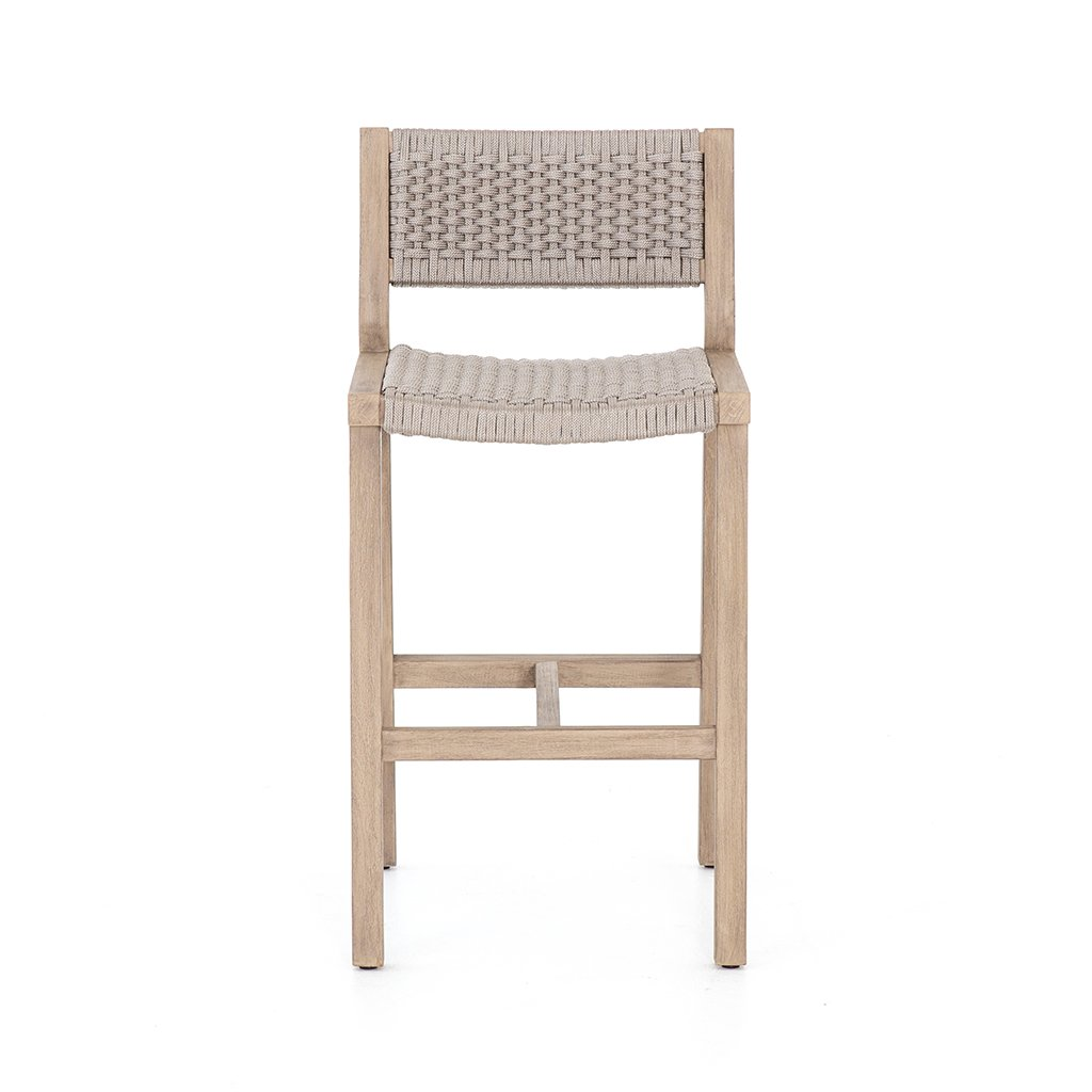 Delano Teak Outdoor Barstool - Brown JSOL-022 Four Hands