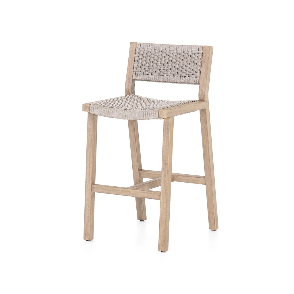 Delano Teak Outdoor Barstool - Brown JSOL-022