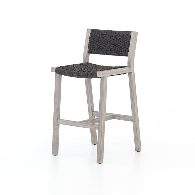 Delano Outdoor Teak Stool - Grey JSOL-022A