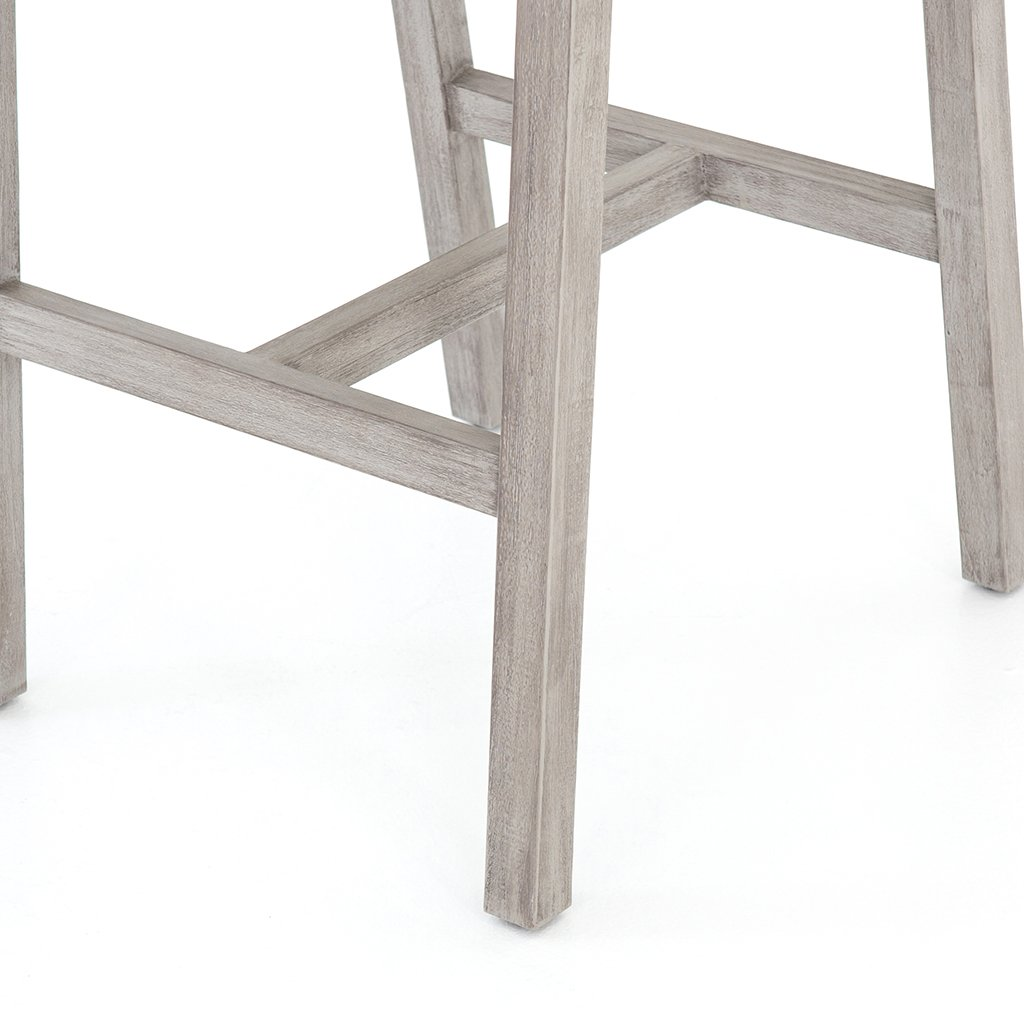 Delano Outdoor Teak Stool - Grey JSOL-022A Four Hands