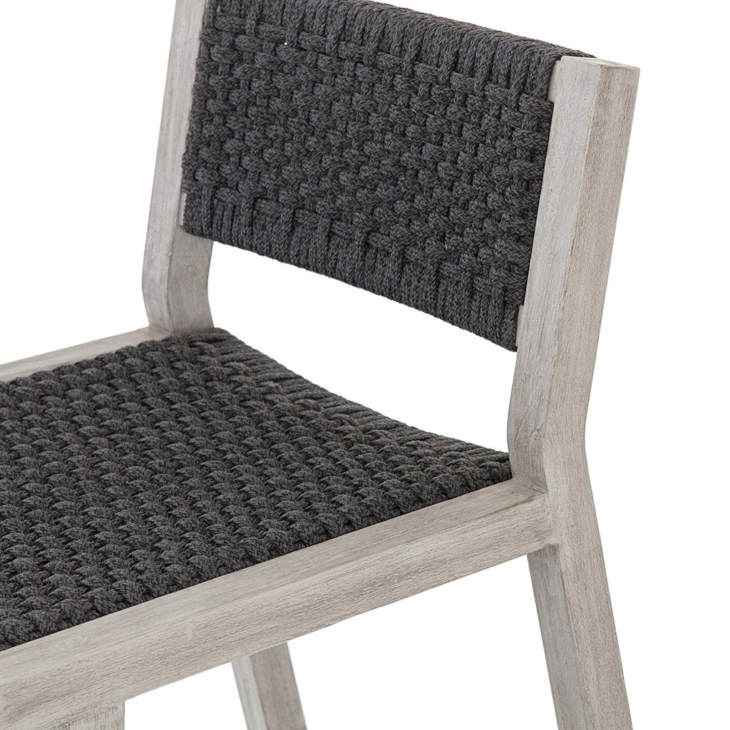 grey outdoor stool teak