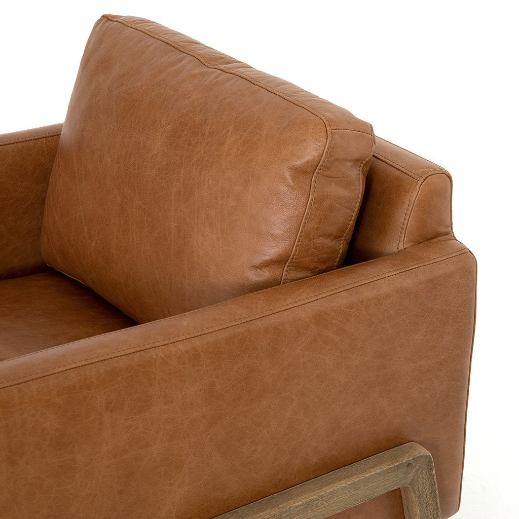 Diana Leather Arm Chair - Sonoma Butterscotch Four Hands CKEN-294N-671