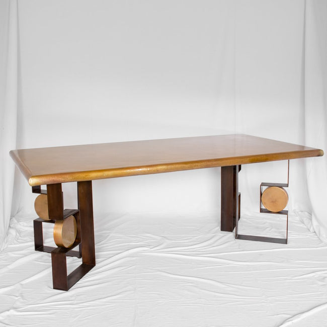 Artesanos Copper Top Dining Table Diorite Dining Table
