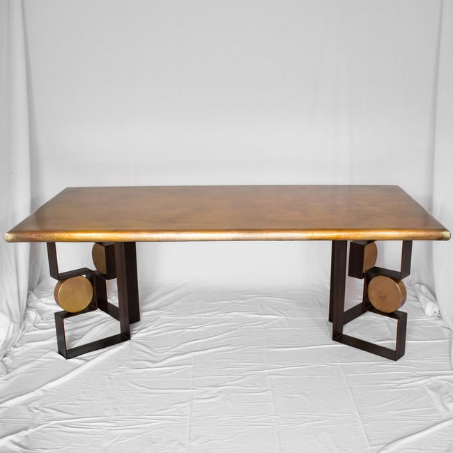 Diorite dining copper table