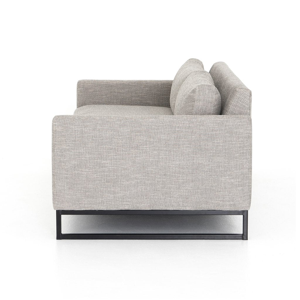 Side View Drew Performance Fabric Sofa - Alpine Granite