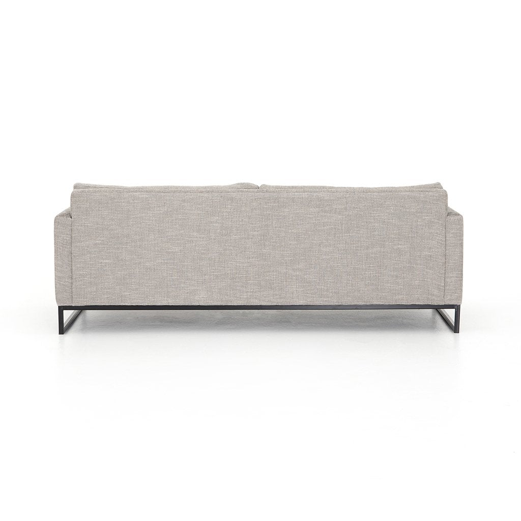Back View Drew Performance Fabric Sofa - Alpine Granite
