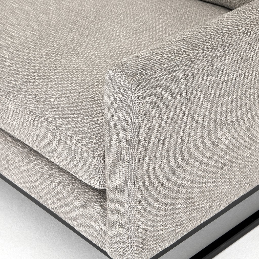 Arm Detail Drew Performance Fabric Sofa - Alpine Granite