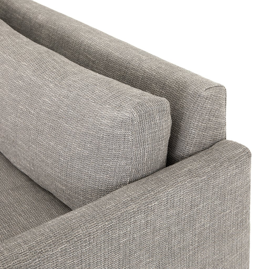 Backrest Detail Drew Performance Fabric Sofa - Alpine Granite