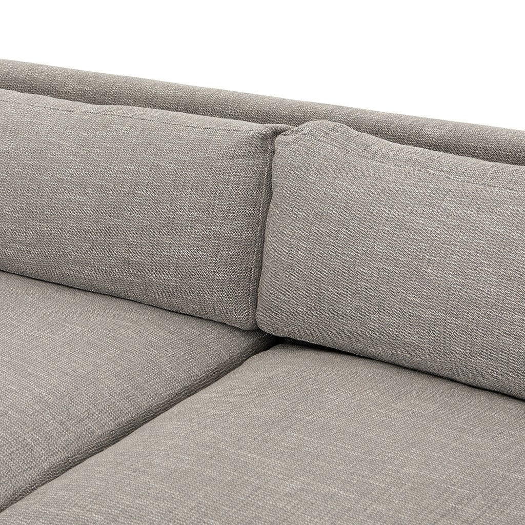 Seat Detail Drew Performance Fabric Sofa - Alpine Granite