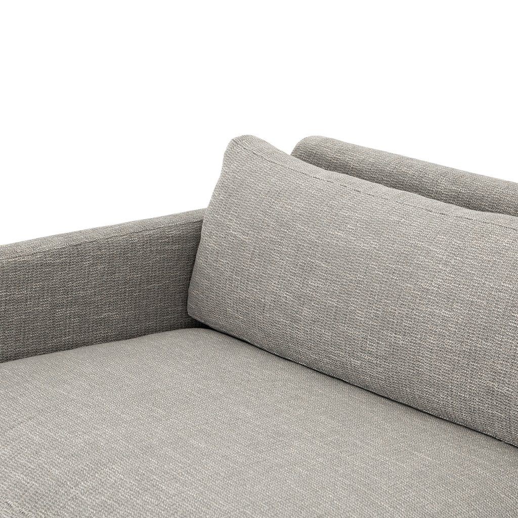 Cushion Detail Drew Performance Fabric Sofa - Alpine Granite