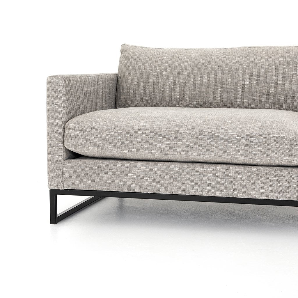 Front View Drew Performance Fabric Sofa - Alpine Granite