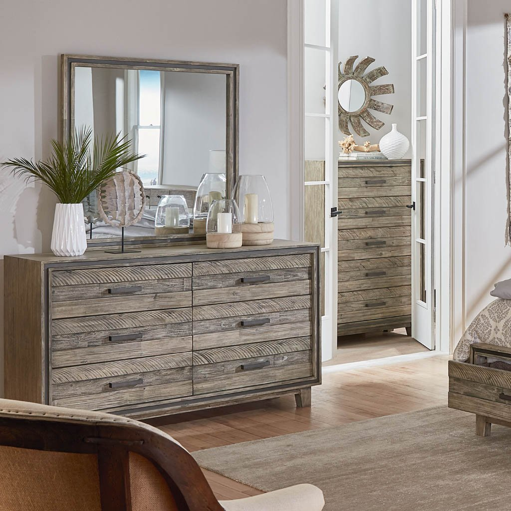 driftwood six drawer dresser