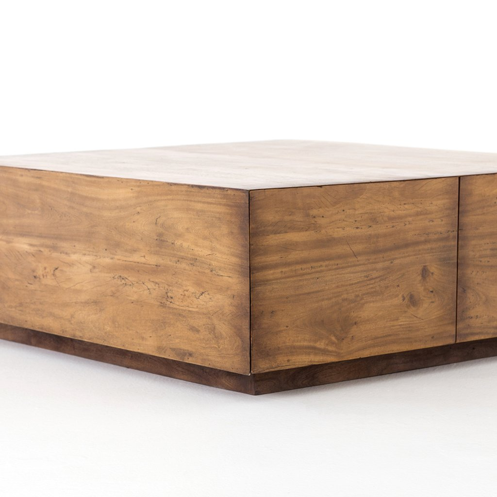 Square Coffee Table with hidden drawers