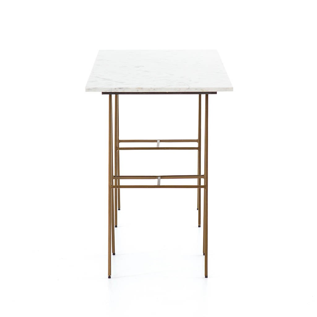 White Marble Eden Desk
