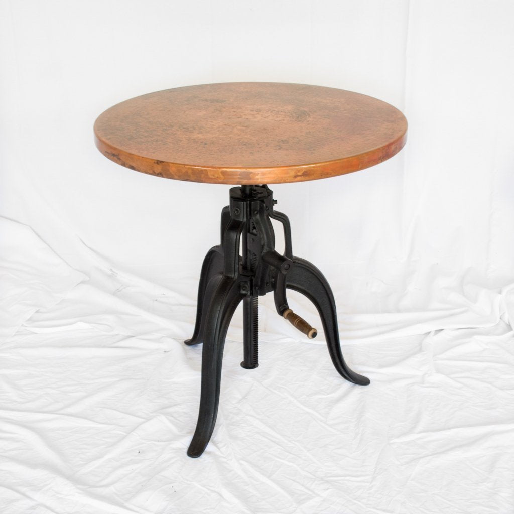 Engineer Copper Bistro Table Edison Copper Table