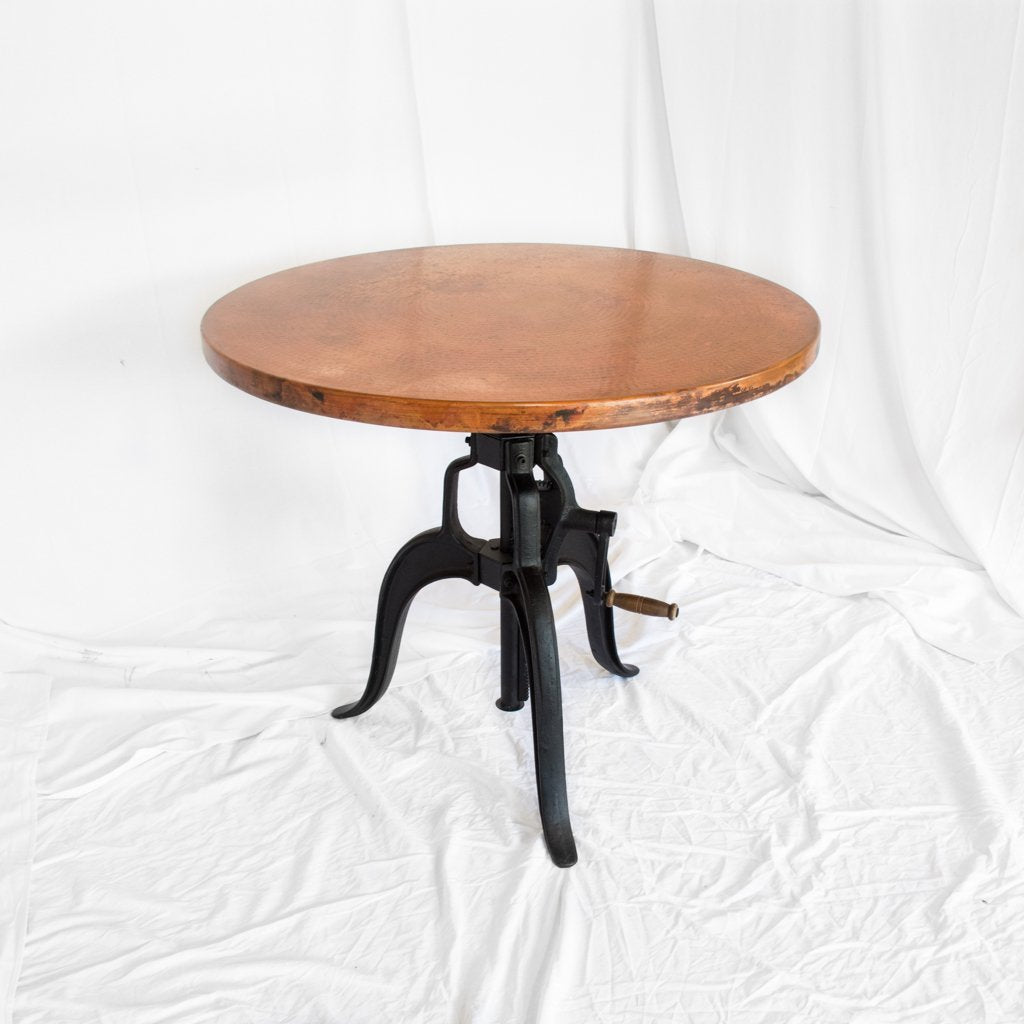 Copper Bistro Table Adjustable height