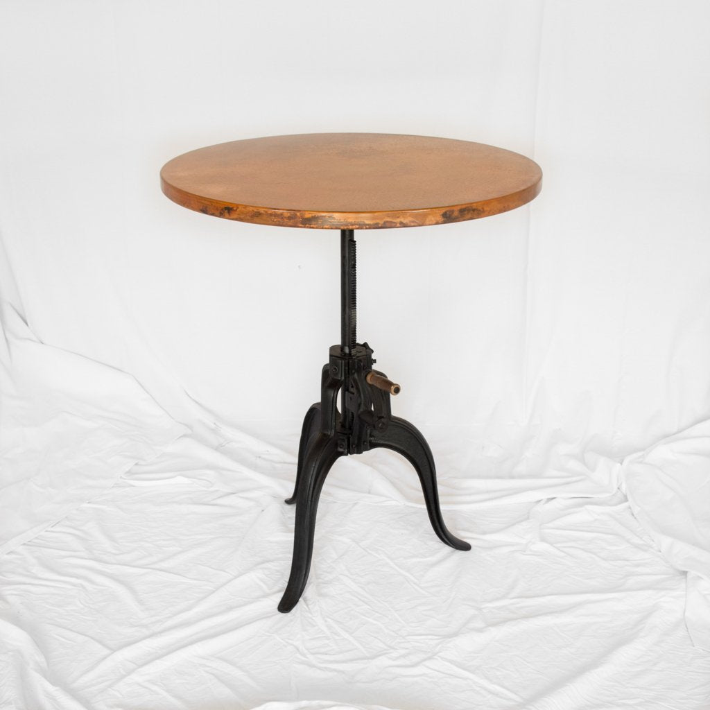 Adjustable Height Copper Table