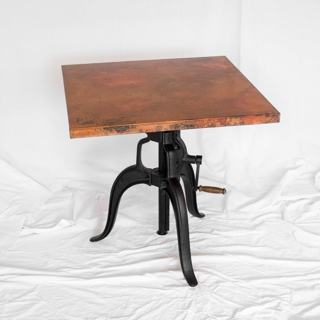 Adjustable Copper Top Dining Table
