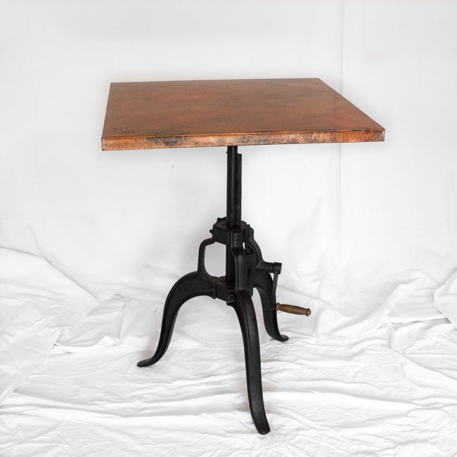 Adjustable Copper Bistro Table
