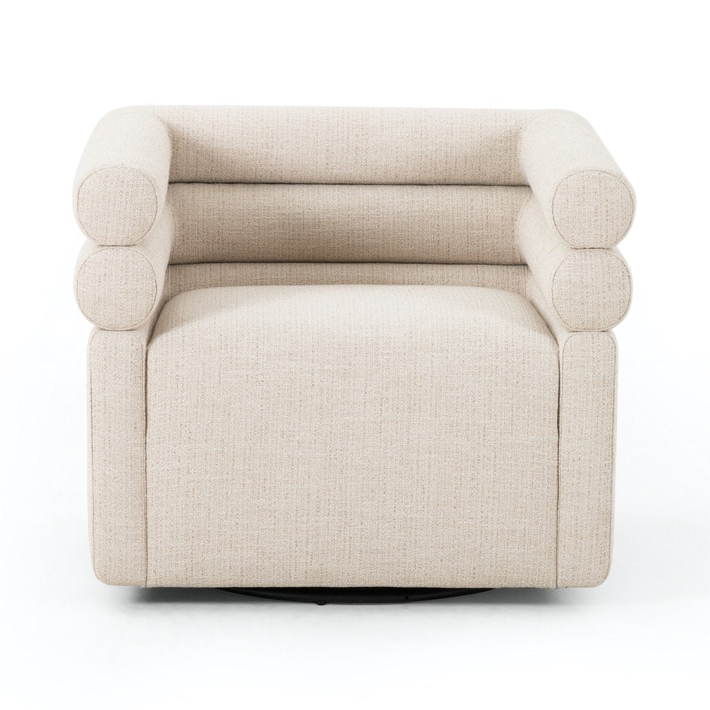 Evie Swivel Chair - Hampton Cream Front View