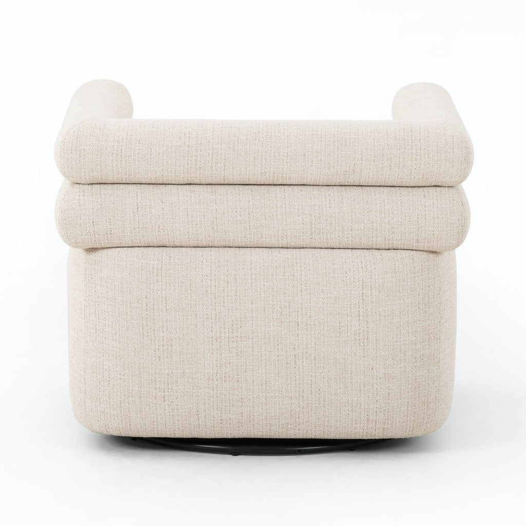 Evie Swivel Chair - Hampton Cream Back View