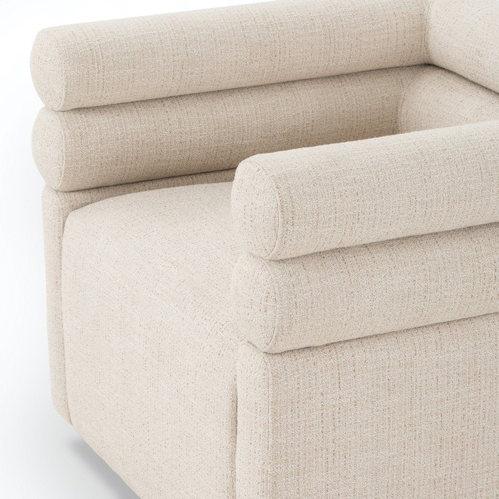 Evie Swivel Chair - Hampton Cream Angle View