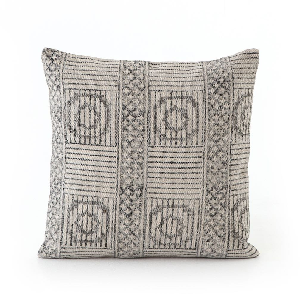 Faded Block Print Pillow - Set of 2 Four Hands IWIL-024