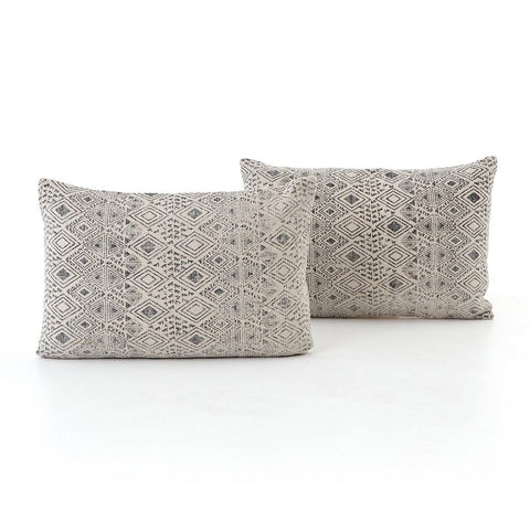Faded Grey Print Lumbar Pillow - Set of 2 Four Hands IWIL-028