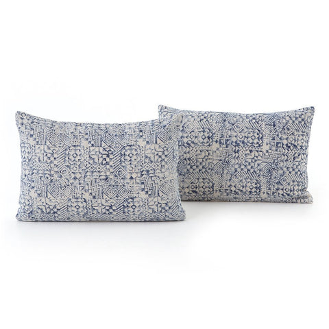Faded Mosaic Print Pillow - Set of 2 Four Hands IWIL-018
