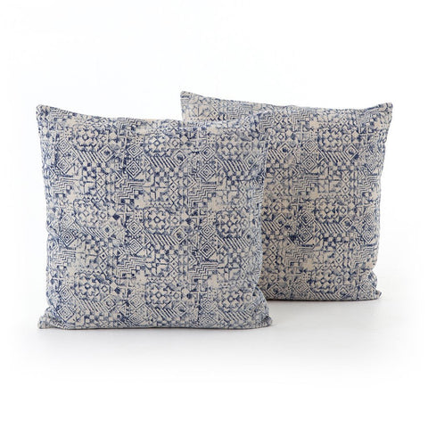 Four Hands Faded Mosaic Print Pillow - Set of 2 IWIL-019