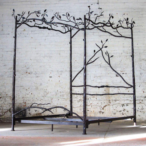 Forest Canopy Bed - hand forged iron