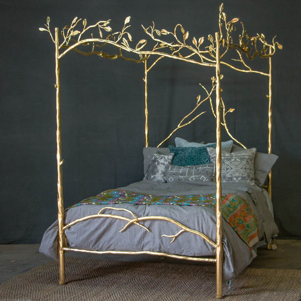 Canopy Bed.Forest Canopy 24 Karat Gold Bed